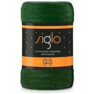 FARO deka mikroplyš Siglo tmavě zelená, 150×200 cm