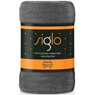 FARO deka mikroplyš Siglo tmavě šedá, 150×200 cm
