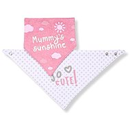 BabyOno cotton droolies 2 pcs with labels for girls