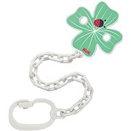 NUK Soother chain with clip green
