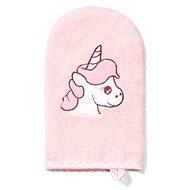 BabyOno bamboo washcloth unicorn 21 × 12 cm, pink