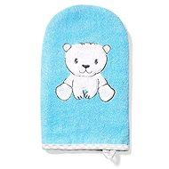 BabyOno bamboo washcloth teddy bear 21 × 12 cm, blue