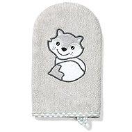 BabyOno bamboo washcloth fox 21 × 12 cm, grey
