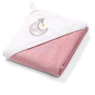 BabyOno froté uterák s kapucňou 76 × 76 cm, ružový