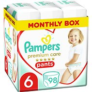 PAMPERS Premium Pants Carry Pack veľ. 6 (98 ks) - Plienkové nohavičky