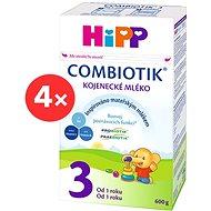 HiPP 3 Junior Combiotik - 4 × 600g - Dojčenské mlieko