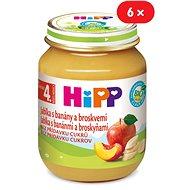 HiPP BIO Jablká s banánmi a broskyňami - 6x 125g - Detský príkrm