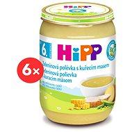 HiPP BIO Zeleninová polievka s kuracím mäsom – 6× 190 g - Detský príkrm