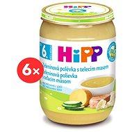 HiPP BIO Zeleninová polievka s teľacím mäsom - 6x 190g - Detský príkrm
