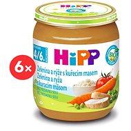 HiPP BIO Zelenina a ryža s kuracím mäsom - 6x 125g - Príkrm
