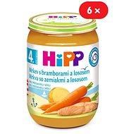HiPP Karotka so zemiakmi a lososom - 6x 190g - Detský príkrm