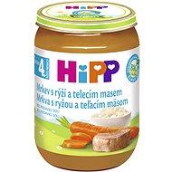HiPP BIO Mrkva s ryžou a teľacím mäsom – 6× 190 g - Príkrm