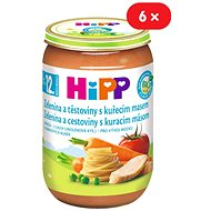 HiPP BIO Zelenina a cestoviny s kuracím mäsom – 6× 220 g - Príkrm