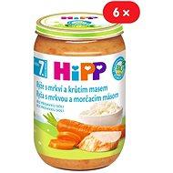 HiPP BIO Ryža s karotkou a morčacím mäsom - 6x 220g - Detský príkrm