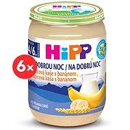 HiPP BIO Kaša na dobrú noc krupicová s banánom - 6× 190 g - Mliečna kaša