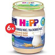HiPP BIO Kaša na dobrú noc krupicová - 6x 190g - Mliečna kaša