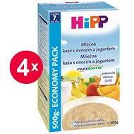 HiPP Mliečna kaša s ovocím a jogurtom Praebiotik - 4x 500g - Mliečna kaša