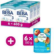 BEBA OPTIPRO 3 (6× 600 g) + NESTLE NATURNES BIO Sušienky, 6× 150 g