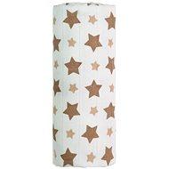 T-tomi Bambusová osuška 1 kus – béžové hviezdičky - Detská osuška