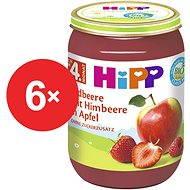 HiPP BIO Jablká s jahodami a malinami - 6 × 190 g - Príkrm