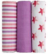 T-tomi Bambusové BIO plienky, 3 ks, ružové hviezdičky - Látkové plienky
