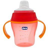 Chicco Soft Cup, 6m + - červená - Detská fľaša
