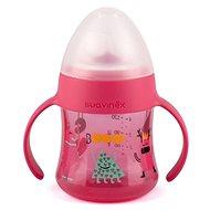 Suavinex Fľaška s uškami Booo 150 ml - Ružová - Dojčenská fľaša
