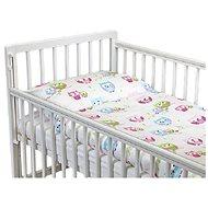 New Baby 2-dielna posteľná bielizeň 90/120 cm biela so sovou - Súprava