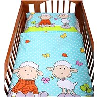 New Baby 2-dielna posteľná bielizeň 90/120 cm, tyrkysová s ovečkami - Súprava