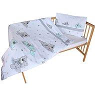 New Baby 2-dielne posteľné obliečky 90/120 cm sivý medvedík - Súprava