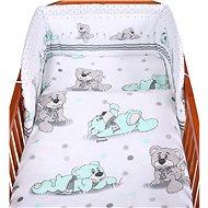 New Baby 3-dielna posteľná bielizeň 90/120 cm sivý medvedík - Súprava