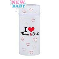 New Baby Termoobal Jumbo I love Mum and Dad biely - Termoobal na dojčenské fľaše