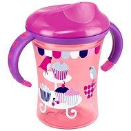 NUK EASY LEARNING Hrnček na učenie 250 ml - ružový - Detský hrnček