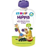 HiPP BIO 100% ovocie Hruška-Černe ríbezle-Slivka 100 g - Detský príkrm