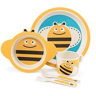 Zopa Bambusová súprava riadu – Bee - Detská jedálenská súprava