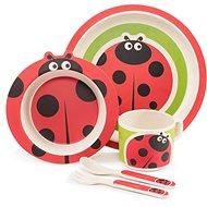 ZOPA Bambusová súprava riadu – Ladybird - Detská jedálenská súprava