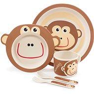 Zopa Bambusová súprava riadu – Monkey - Detská jedálenská súprava