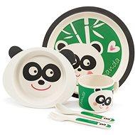 Zopa Bambusová súprava riadu – Panda - Detská jedálenská súprava