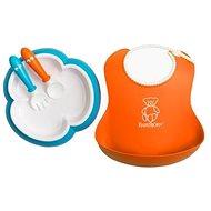 Babybjörn Jedálenská súprava oranžová/tyrkysová - Jedálenská súprava pre deti