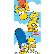 Jerry Fabrics Simpsons family clouds