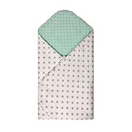 T-tomi Rýchlozavinovačka MINKY, white – green/grey dots - Zavinovačka
