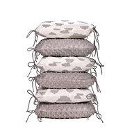 T-tomi vankúšikový mantinel, white/grey clouds - Príslušenstvo k detskej postieľke