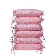 T-tomi vankúšikový mantinel, pink/stars - Príslušenstvo k detskej postieľke