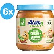 ALETE BIO Príkrm Zelenina so zemiakmi a kuracím mäsom 6× 250 g - Príkrm