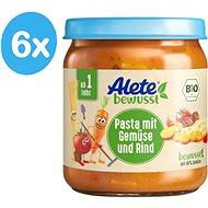 ALETE Príkrm - BIO cestoviny so zeleninou a hovädzím mäsom 6× 250 g - Príkrm