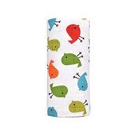 T-tomi BIO Velká bambusová osuška, birds/vtáci - Osuška pre bábätká
