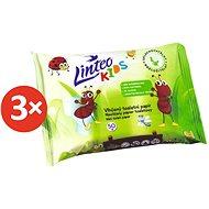 LINTEO KIDS Vlhčený toaletný papier (3× 50 ks) - Toaletný papier