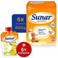 Sunar Complex 2 – 6× 600 g + Vlhčené utierky Linteo Baby - Dojčenské mlieko