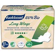 VUOKKOSET 100 % BIO Long Wings thin 10 ks - Eko menštruačné vložky