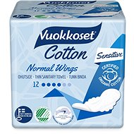 VUOKKOSET Cotton Normal Wings Thin 12 ks - Eko menštruačné vložky